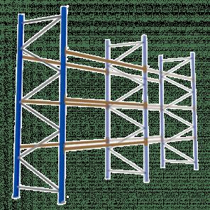 Palletstelling 400x360x113 cm - 3 niveaus - aanbouwmodel - PSP-118