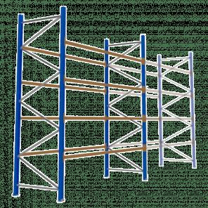 Palletstelling 400x360x113 cm - 4 niveaus - basismodel - PSP-119
