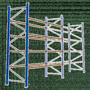 Palletstelling 400x360x113 cm - 4 niveaus - aanbouwmodel - PSP-120