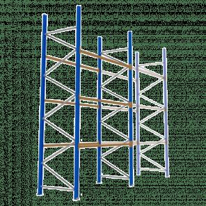 Palletstelling 500x270x113 cm - 3 niveaus - basismodel - PSP-121
