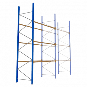 Palletstelling 500x270x113 cm - 3 niveaus - aanbouwmodel  - PSP-122
