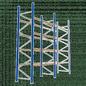 Palletstelling 500x270x113 cm - 4 niveaus - basismodel - PSP-123