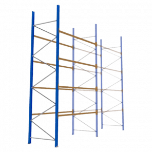 Palletstelling 500x270x113 cm - 4 niveaus - aanbouwmodel  - PSP-124