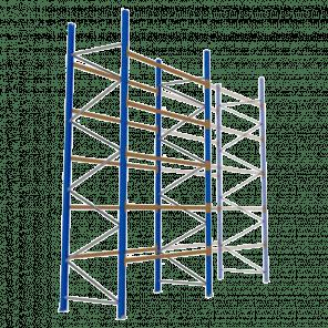 Palletstelling 500x270x113 cm - 5 niveaus - basismodel - PSP-125