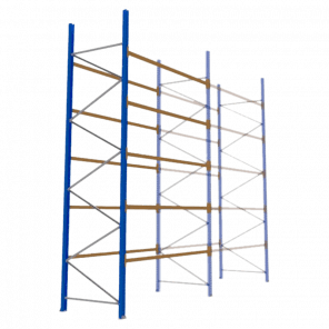 Palletstelling 500x270x113 cm - 5 niveaus - aanbouwmodel - PSP-126