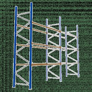 Palletstelling 500x360x113 cm - 3 niveaus - aanbouwmodel - PSP-128