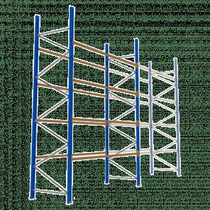 Palletstelling 500x360x113 cm - 4 niveaus - basismodel - PSP-129