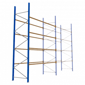 Palletstelling 500x360x113 cm - 4 niveaus - aanbouwmodel  - PSP-130