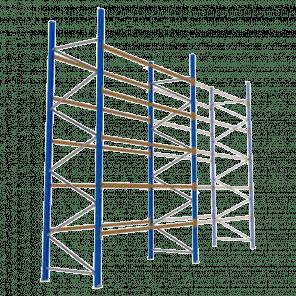 Palletstelling 500x360x113 cm - 5 niveaus - basismodel - PSP-131