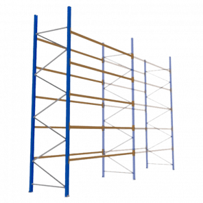 Palletstelling 500x360x113 cm - 5 niveaus - aanbouwmodel - PSP-132