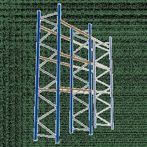Palletstelling 600x270x113 cm - 3 niveaus - basismodel - PSP-133