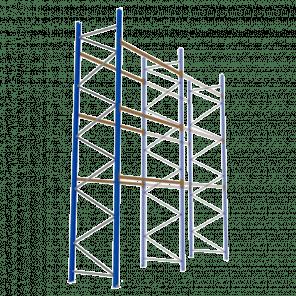 Palletstelling 600x270x113 cm - 3 niveaus - aanbouwmodel  - PSP-134