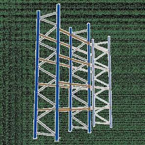 Palletstelling 600x270x113 cm - 4 niveaus - basismodel - PSP-135