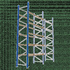 Palletstelling 600x270x113 cm - 5 niveaus - aanbouwmodel  - PSP-138