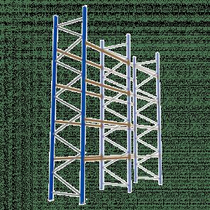 Palletstelling 600x270x113 cm - 4 niveaus - aanbouwmodel  - PSP-136