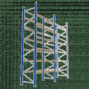 Palletstelling 600x270x113 cm - 6 niveaus - basismodel - PSP-139
