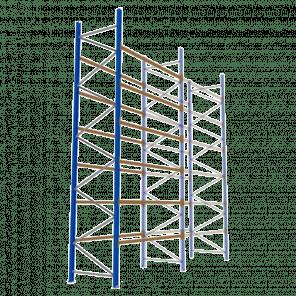Palletstelling 600x270x113 cm - 6 niveaus - aanbouwmodel  - PSP-140