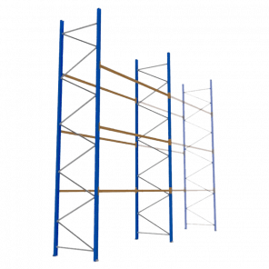 Palletstelling 600x360x113 cm - 3 niveaus - basismodel  - PSP-141