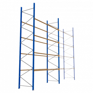 Palletstelling 600x360x113 cm - 4 niveaus - basismodel  - PSP-143