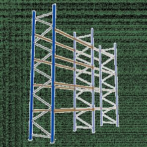Palletstelling 600x360x113 cm - 4 niveaus - aanbouwmodel   - PSP-144