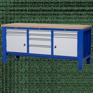 Werkbank - laden & deur - 200x70x85-90 cm - PWP-323