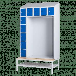 Lockerkast met hanggedeelte - 10 vaks - 219x117,5x74,5 cm - LKP-702
