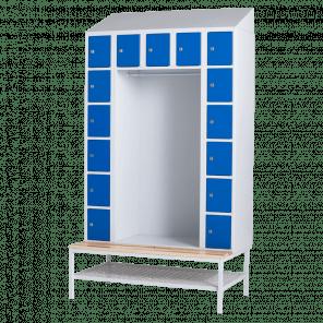 Lockerkast met hanggedeelte - 15 vaks - 219x117,5x74,5 cm - LKP-701