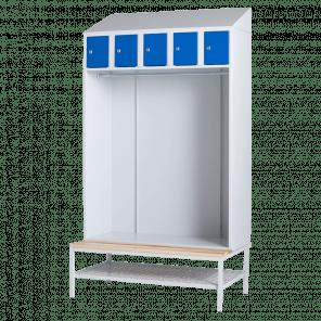 Lockerkast met hanggedeelte - 5 vaks - 219x117,5x74,5 cm - LKP-703