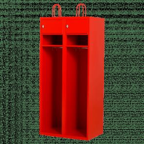 Brandweerkast locker - 2-delig - 195x80x55 cm - LKP-802