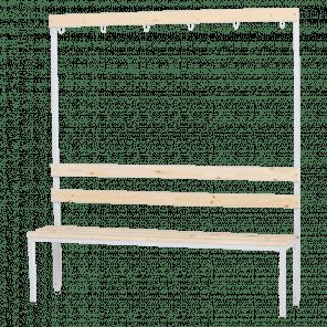 Garderobebank met kapstok - 165x150x38 cm - ZBP-104