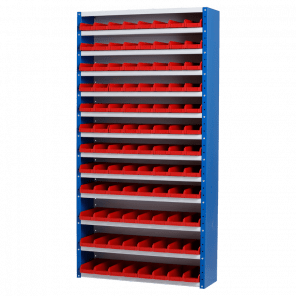 Magazijnkast - 96 bakken - 198x100x30 cm - OMP-507