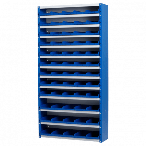Magazijnkast - 60 bakken - 198x100x30 cm - OMP-508