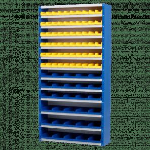 Magazijnkast - 90 bakken - 198x100x30 cm - OMP-509