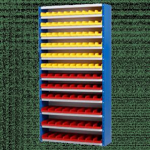 Magazijnkast - 108 bakken - 198x100x30 cm - OMP-510