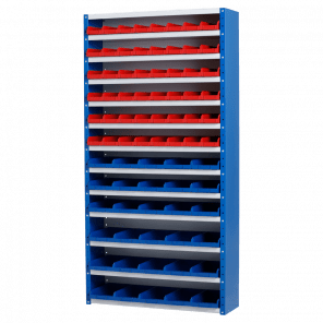 Magazijnkast - 78 bakken - 198x100x30 cm - OMP-511