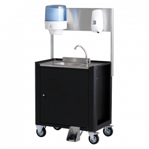Mobiele wasbak zonder wateraansluiting - automatische desinfectie dispenser - DPP-103