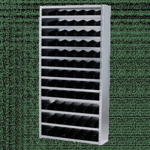 Vakkenkast 198x100x30 cm - gegalvaniseerd - OMP-209