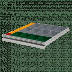 Inzetbak module 18 bakken - werkbank laden - PWP-041