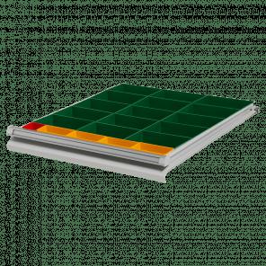 Inzetbak modules 20 bakken - werkbank laden - PWP-043