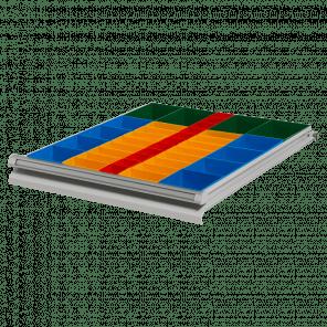 Inzetbak modules 43 bakken - werkbank laden - PWP-045