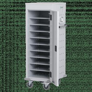 Laptopkar / tabletkar - 10 vakken met stopcontact - 125x53x54 cm - LTP-101
