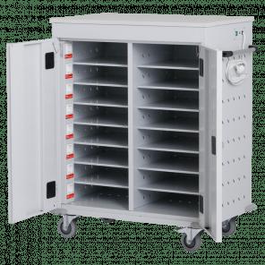 Laptopkar / tablet kar - 16 vakken met stopcontact - 106x92x54 cm - LTP-102