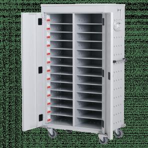 laptopkar / tabletkar - 26 vakken met stopcontact - 154x92x54 cm - LTP-104