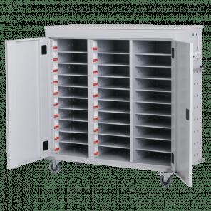 Laptopkar / tabletkar - 30 vakken met stopcontact - 125x131x54 cm - LTP-105