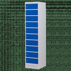 Laptopkast / locker - 10 deuren met stopcontact - 180x40x52 cm - LLP-101
