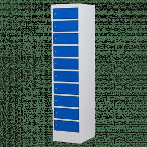 Laptopkast / locker - 10 deuren zonder stopcontact - 180x40x52 cm - LLP-102